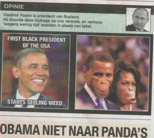 Obamas Portrayed as Monkeys